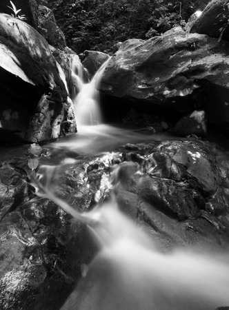 Fine art black and white of a flowing stream photo