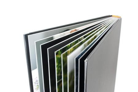 흰색에 고립 된 검은 사진 앨범 스톡 콘텐츠