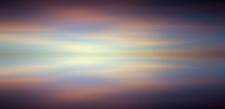 long exposure: Reflection of colorful sunset with long exposure effect, motion blurred Stock Photo