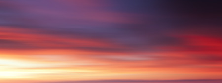 long exposure: Colorful sunset with long exposure effect