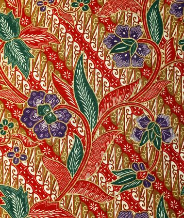 batik: Tissu avec motif batik floral
