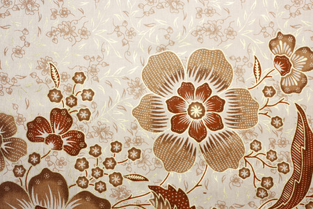 malaysia culture: Fabric with floral batik pattern