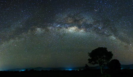 Panoramic shot of the  milky way at Sabah, East Malaysia, Borneo photo