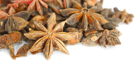 Star anise over white background photo