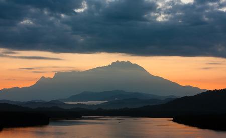 Mount Kinabalu at sunrise in Sabah, East Malaysia, Borneo photo