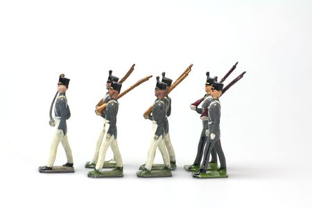 juguetes antiguos: soldados de juguete cl�sicos cadetes de West Point hecho de plomo
