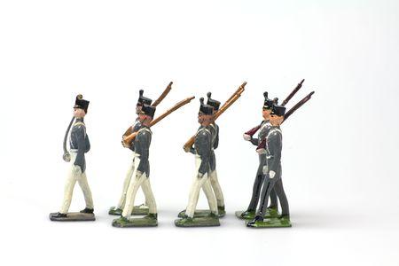 lead: vintage soldatini ovest punto cadetti da piombo Archivio Fotografico
