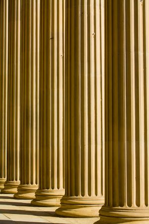doric: abstract background image of doric columns Stock Photo