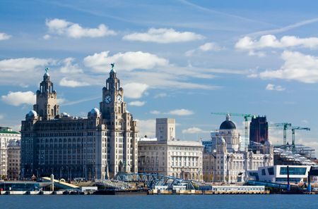 liverpool: liverpool unesco water front on the pier head