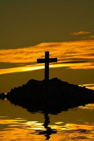 cross silhouette  photo