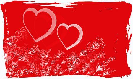 valentine grunge background Stock Photo - 6144122