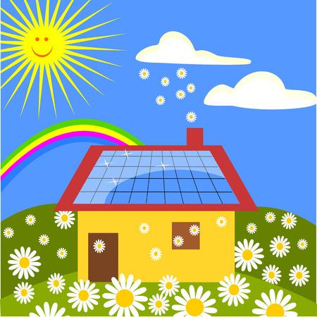 panel solar Vector