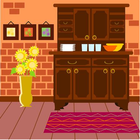 furnishing: Huis Stock Illustratie