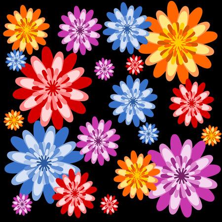 vettoriale: sfondo con fiori