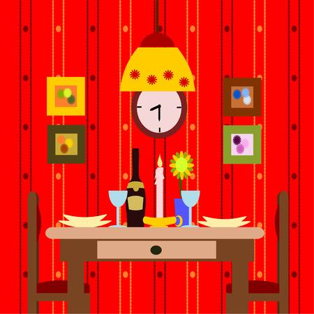 dinner for two Illustration