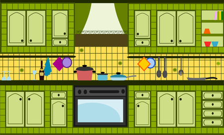 bricolage: green kitchen