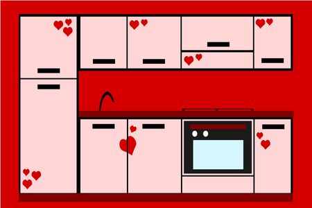 pink kitchen photo
