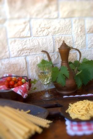 foglie: pasta in tavola