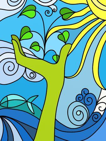 amor al planeta: naturaleza abstracta