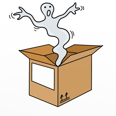 box ghost Stock Photo - 8942075