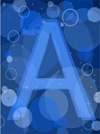 letter a Stock Vector - 9523610