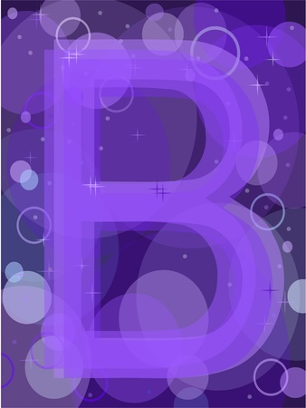 purple glasses: letter b Illustration