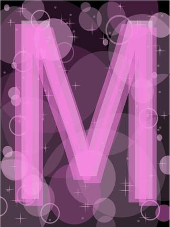 letter m Stock Vector - 9523641