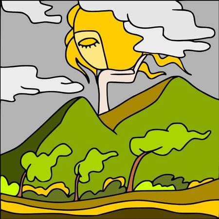 hill top: wind