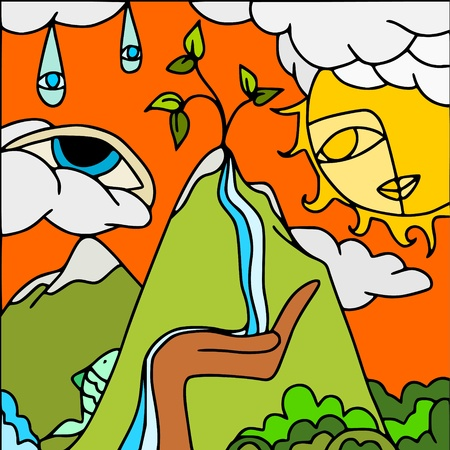 eye drops: source of life Illustration