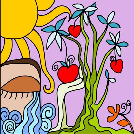color in: �rbol abstracto