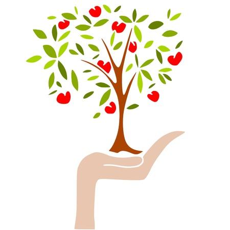 sin: apple tree Illustration
