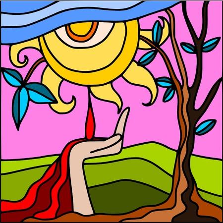 agony: abstract sun