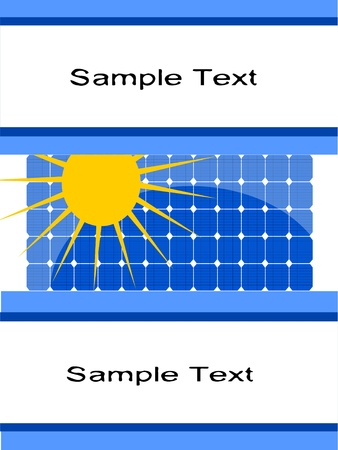 slogan solar panels Vector