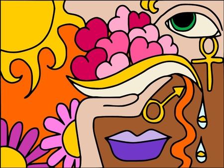 simbolo uomo donna: cuori