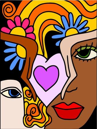 white man black woman: love
