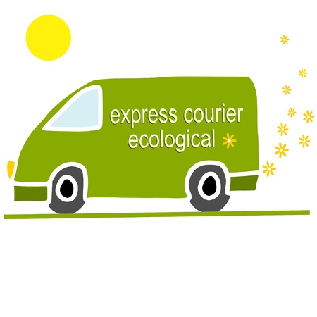 delivery van: eco-friendly courier