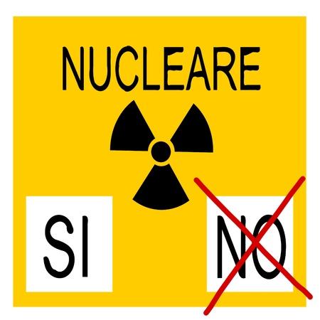 nuclear referendum Vector