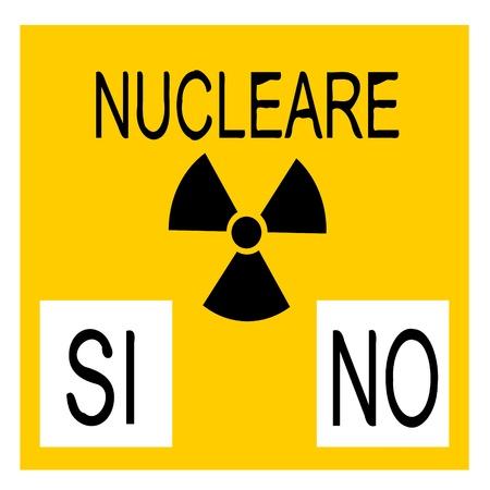 referendum: nuclear referendum Illustration
