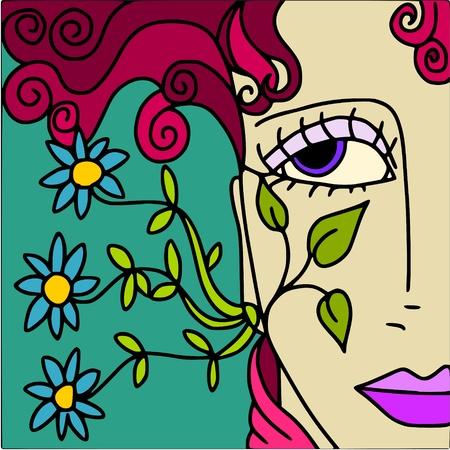 abstract woman Vector