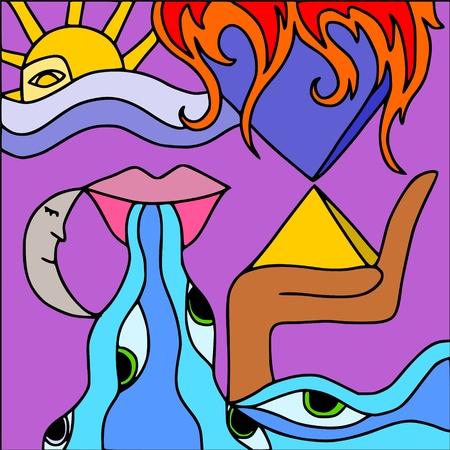 abstract pyramid Stock Vector - 9717855