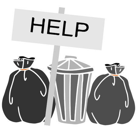 afvalbak: noodgevallen afval