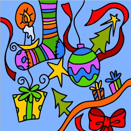 abstract christmas Stock Vector - 10036845