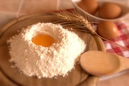 white flour: Fresh ingredients