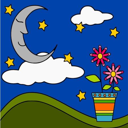 dreams of the moon Stock Vector - 10267822