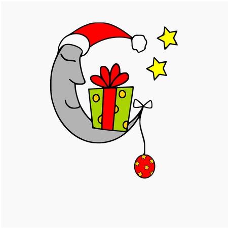 christmas moon Vector