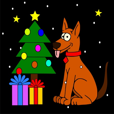 dog Christmas Stock Vector - 10346220