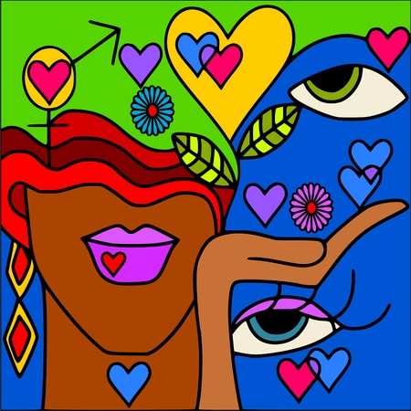 fantasy makeup: symbols of love