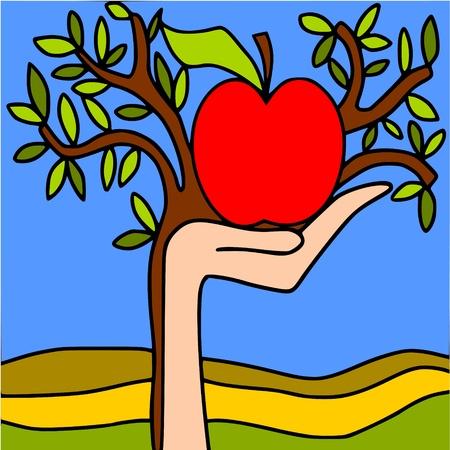 big apple: big apple Illustration