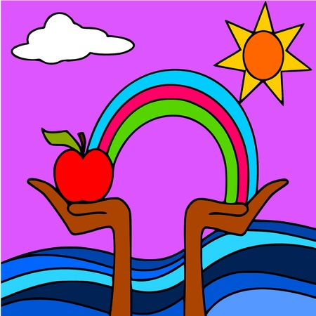 rainbow apple Stock Vector - 10366071