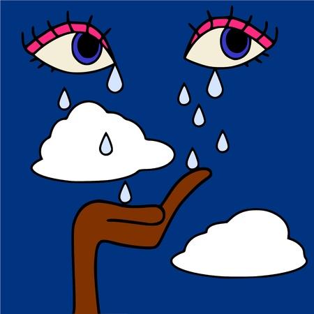 tear drop: tears in heaven Illustration